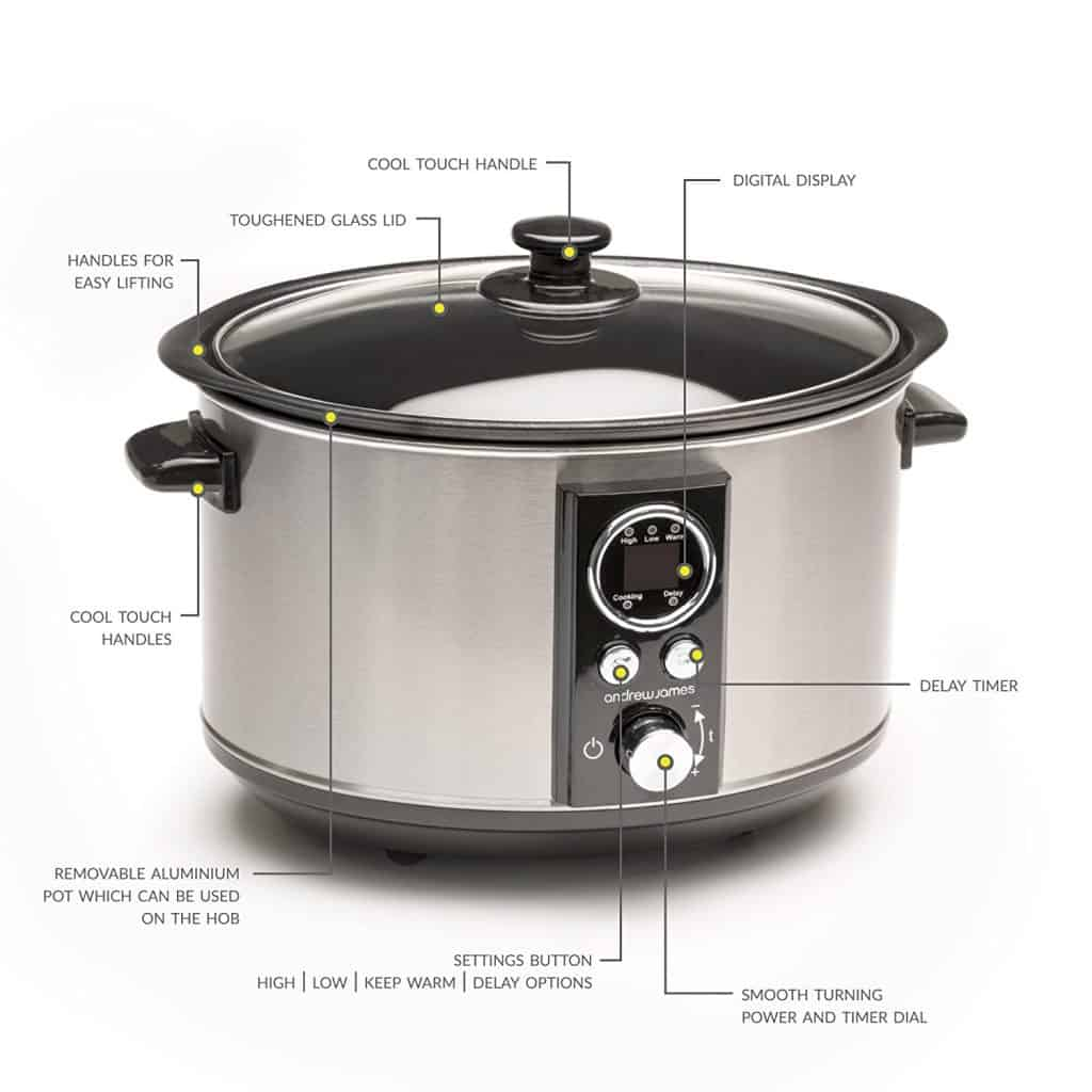 Andrew James Sizzle to Simmer Slow Cooker